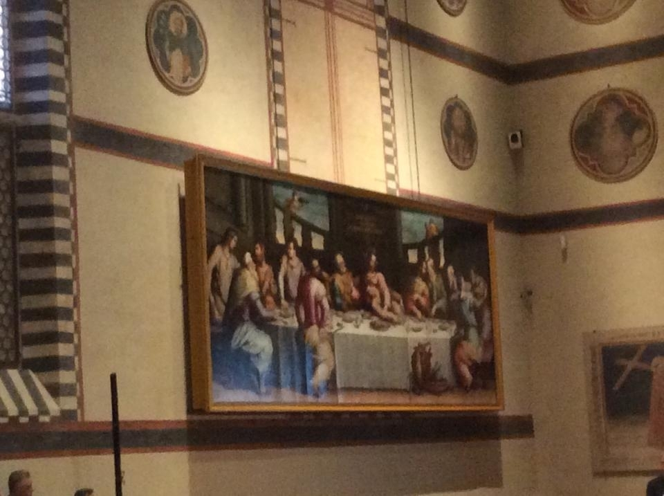 Mattarella in S.Croce a Firenze inaugura restauro dipinto Vasari