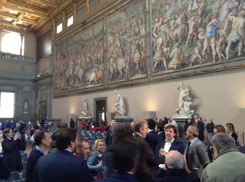 Firenze, nuova illuminazione al Salone dei Cinquecento