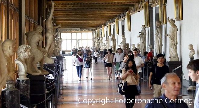 Uffizi, piove dal lucernaio: chiusa la sala dell'Ermafrodito