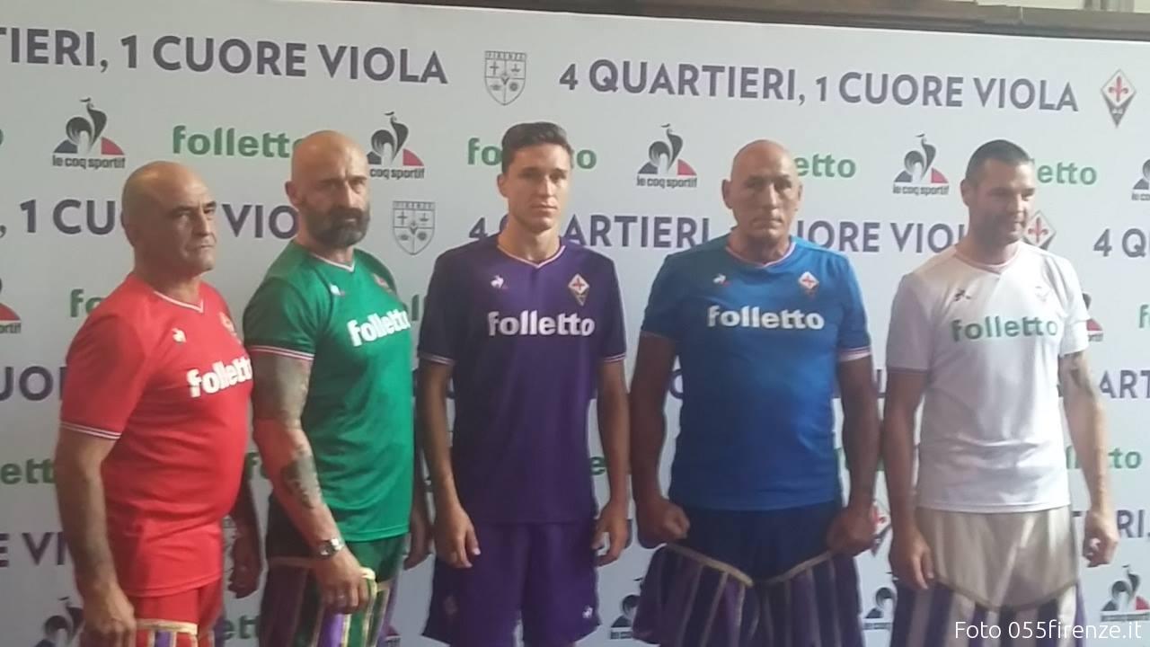 Fiorentina, presentate le nuove maglie per la stagione 2017