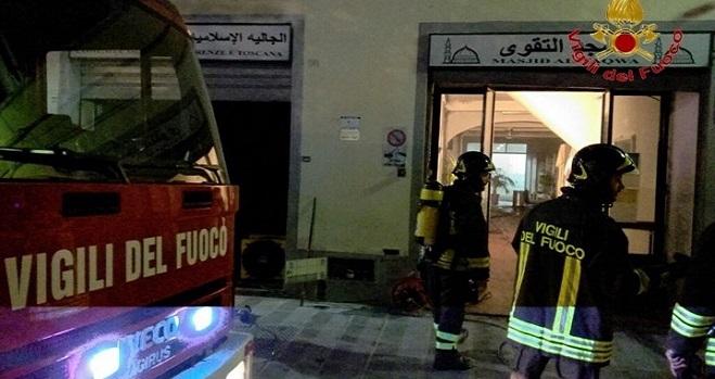 Principio d'incendio alla moschea di Borgo Allegri
