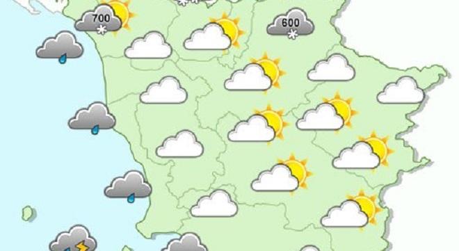 Le previsioni meteo per sabato 2 dicembre