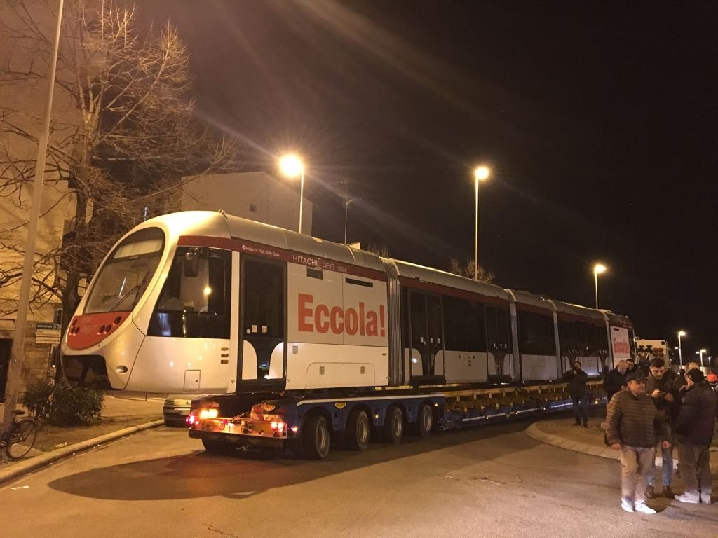 Tramvia Firenze:arrivato nuovo convoglio