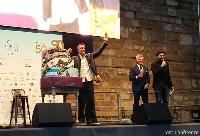 Firenze in festa per Batistuta